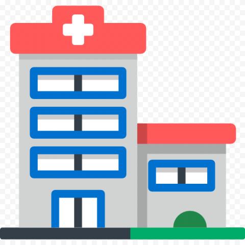 Flat City Hospital Clinic Healthcare Vector Icon