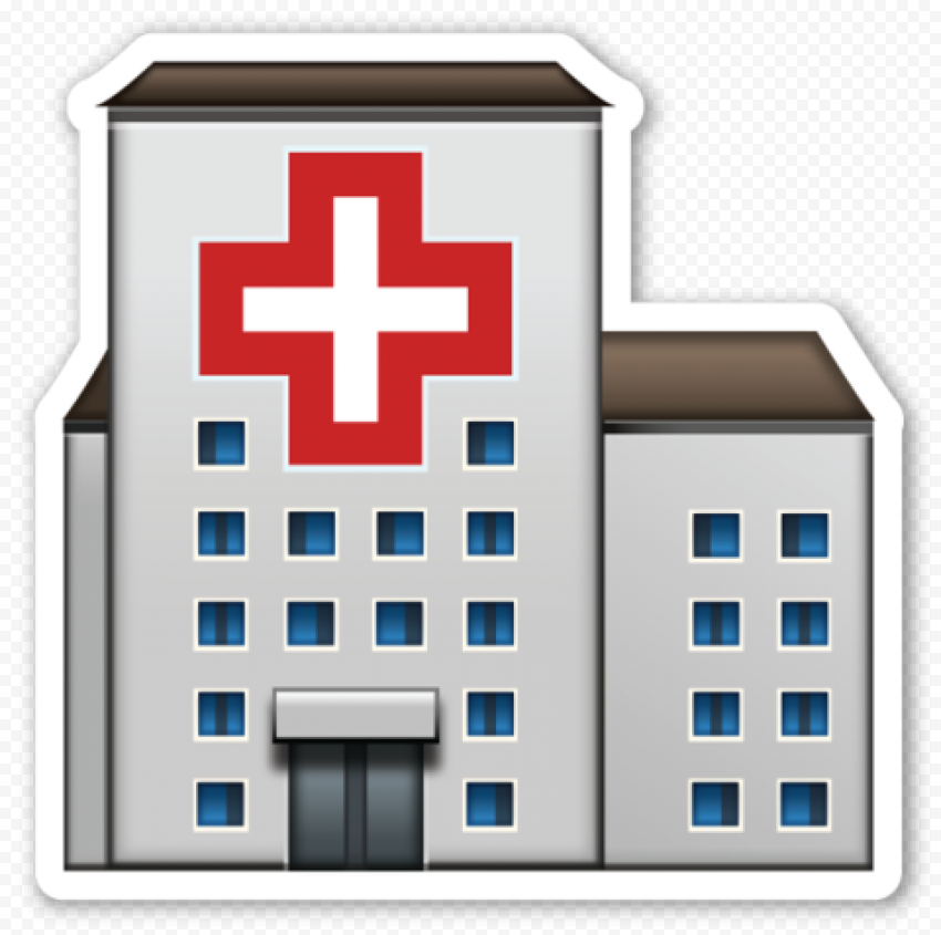Stickers Of Hospital Clinic Illustration Icon