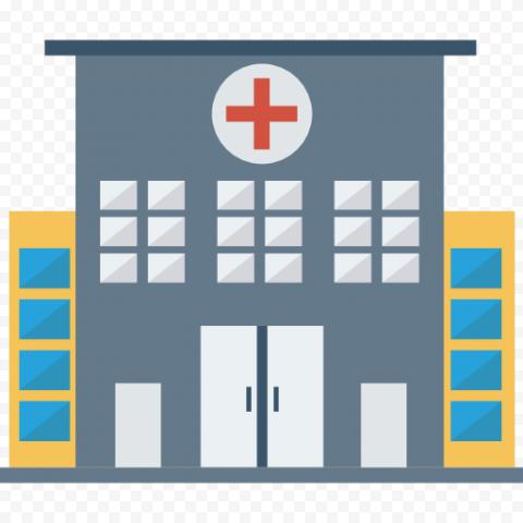 Vector Flat City Hospital Clinic Healthcare Icon