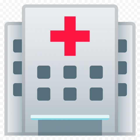 Vector Flat Clinic Hospital Healthcare Icon