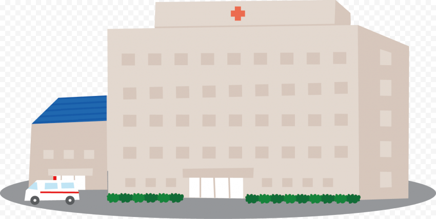Cartoon Clinic Hospital Healthcare Center Icon