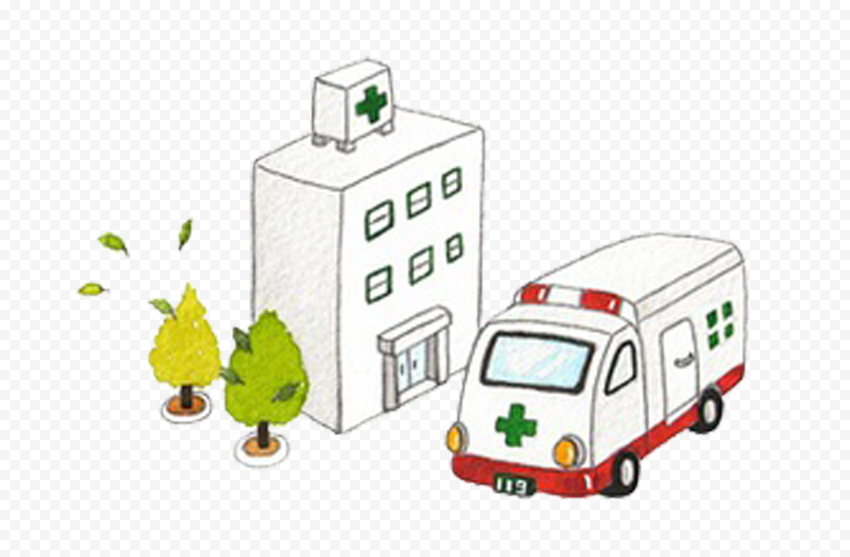 3D Cartoon Hospital HealthCare Drawing Icon Vector