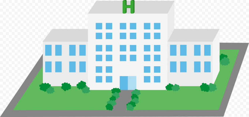 Flat 3D Icon Of Hospital Clinic Healthcare Center