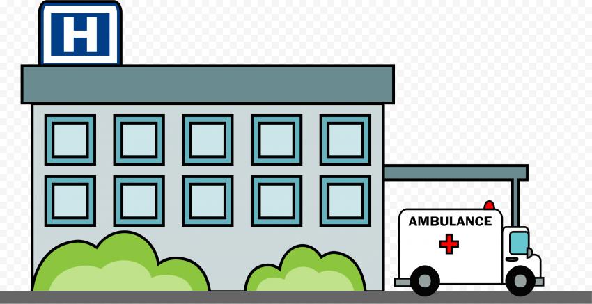 Cartoon Icon Of Hospital Clinic Healthcare Center