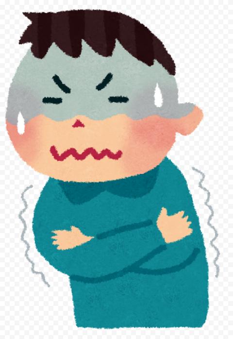 Standing Sick Boy Kid Cartoon Fluenza Fever