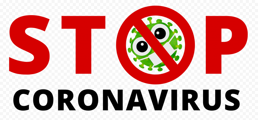 Stop No Coronavirus Fight Logo Icon Cartoon