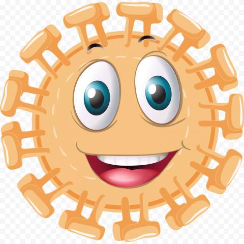 Animated Happy Emoticon Coronavirus Illustration