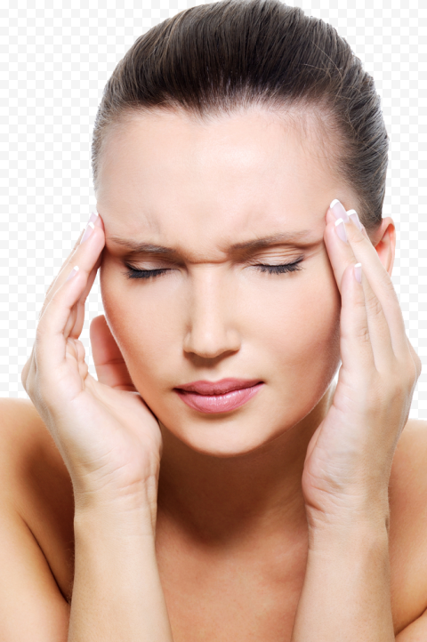Sick Female Pain Migraine Headache Tension Stress