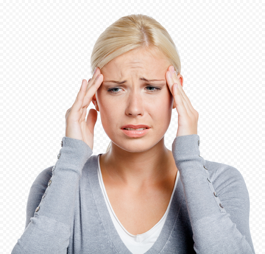 Woman Feeling Dizzy Pain Migraine Headache Sick
