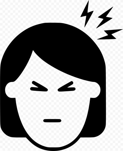 Black Woman Face Pain Migraine Headache Icon