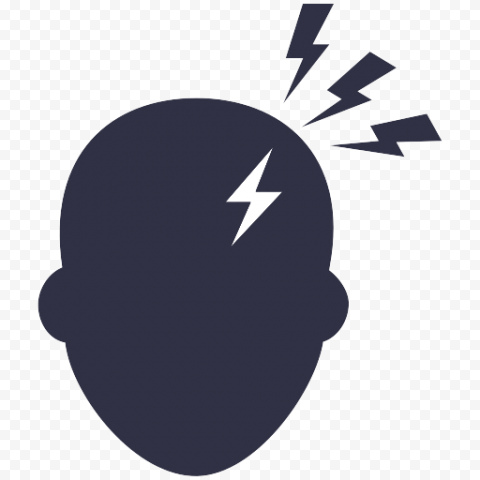 Head Shape Pain Headache Eye Strain Computer Icon