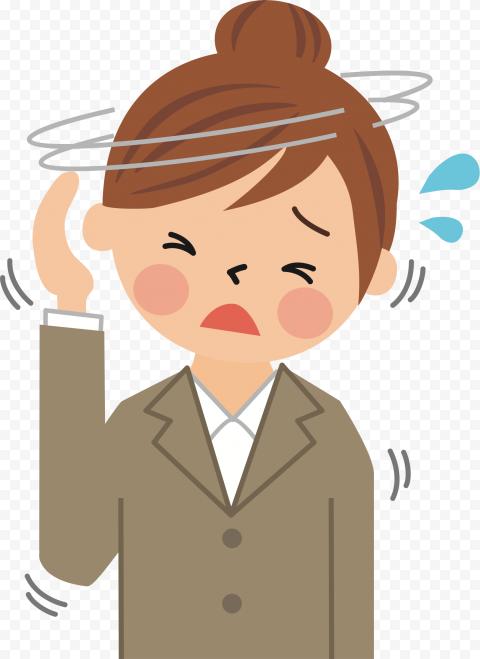 Female Sick Pain Migraine Headache Illustration