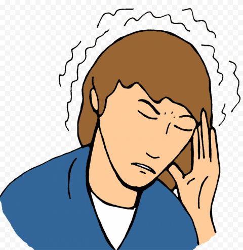 Female Woman Pain Feels Sick Headache Clipart