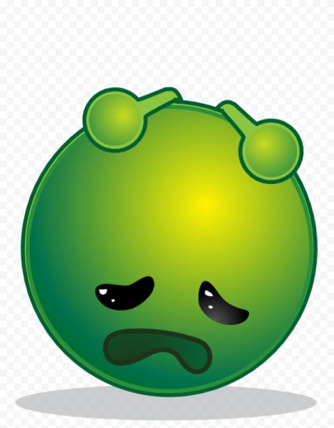 Green Emoji Feeling Sick Emoticon iPhone Clipart