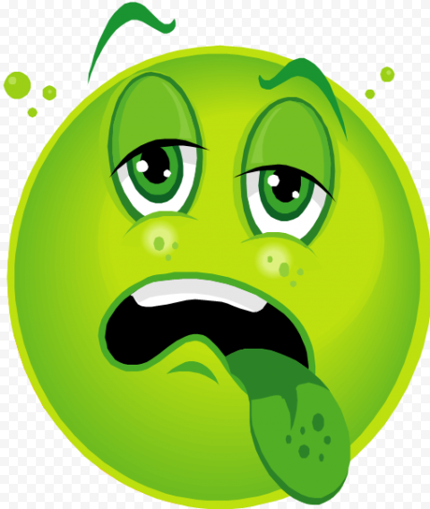 Green Face Emoticon Sick Android Cartoon Animated