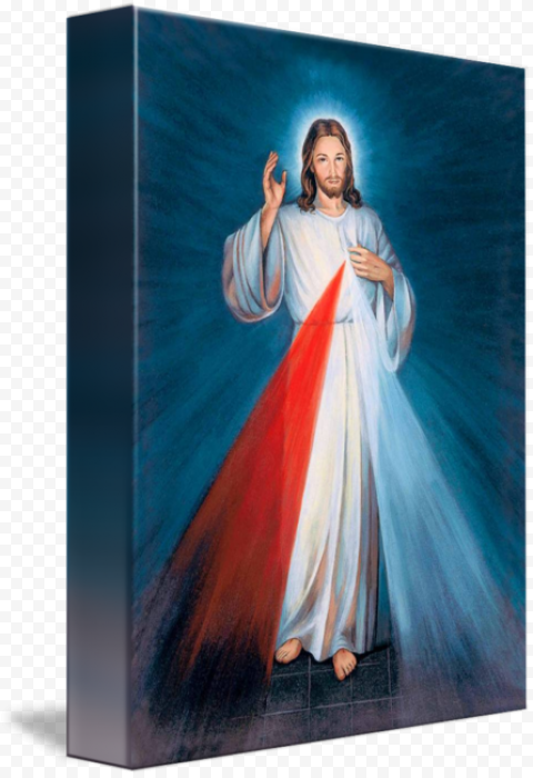 Jesus Chaplet Divine Mercy Prayer Illustration
