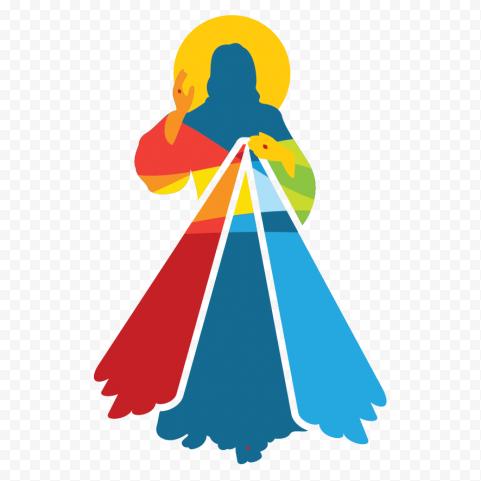 Sacred Holy Jesus Christ Chaplet Divine Mercy Logo