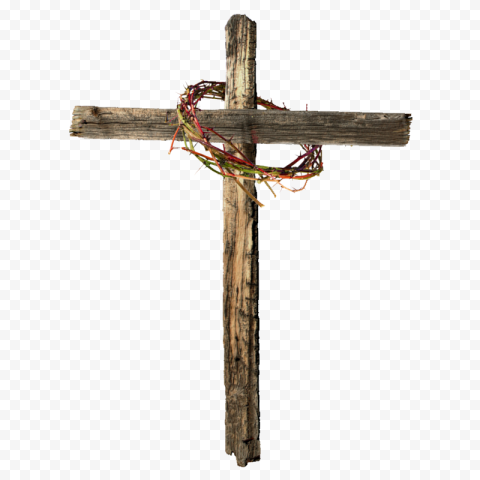 Crown Of Thorns Calvary Christian Wooden Cross