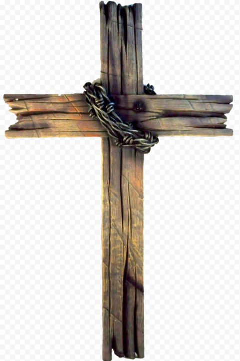 Wooden Old Rugged Cross Christian Crown Of Thorns