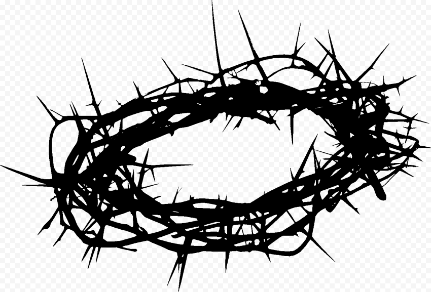 Silhouette Crown Of Thorns Christian Spines Vector