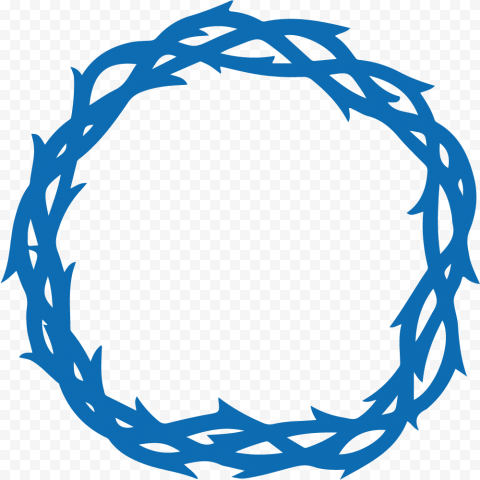 Blue Crown Of Thorns Christian Spines Silhouette