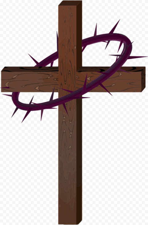 Cartoon Wooden Jesus Cross With Crown Of Thorns Citypng Discover 89 free jesus crown png images with transparent backgrounds. cartoon wooden jesus cross with crown