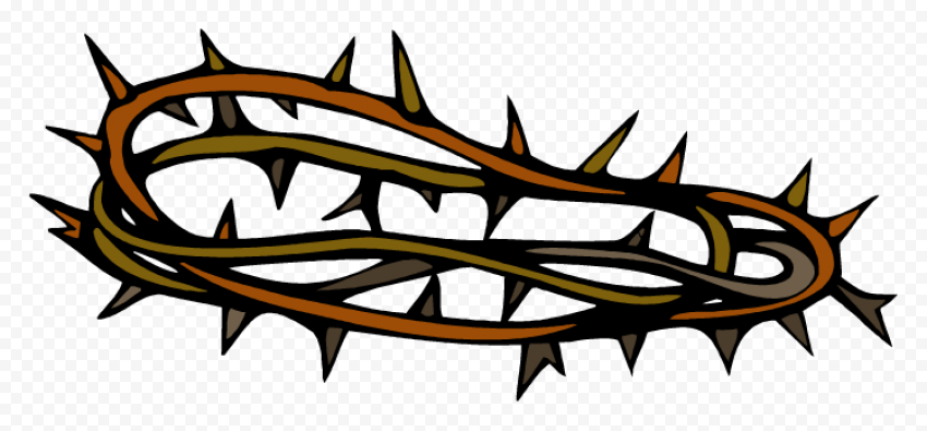 Cartoon Crown Of Thorns Christian Spines Vector