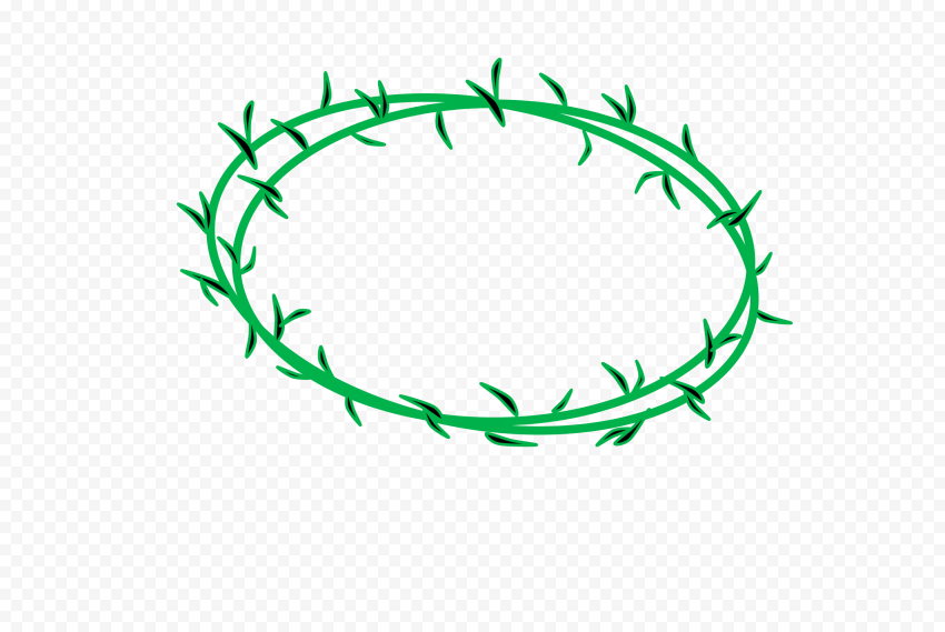 Green Crown Of Thorn Vines Christianity Icon