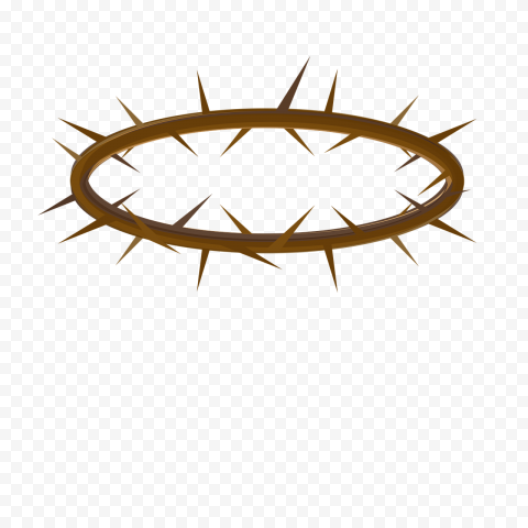 Brown Crown Of Thorn Illustration Christ Icon