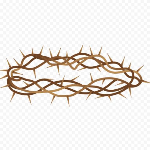 Branch Brown Crown Of Thorn Illustration Clipart