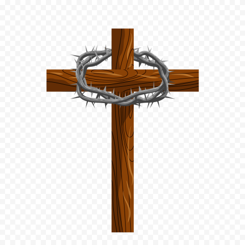 Wooden Cartoon Cross Christ Metal Crown Of Thorns Citypng Your image gets printed onto one of our premium canvases and then stretched on a wooden frame of 1.5 x 1.5 stretcher bars (gallery wrap) or 5/8 x 5/8 stretcher bars. wooden cartoon cross christ metal crown