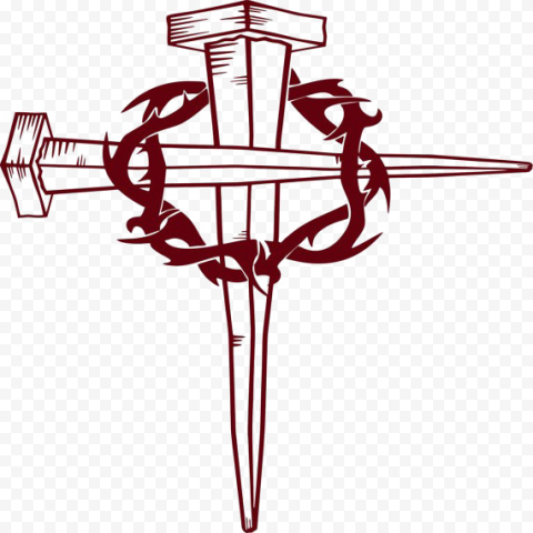 Metal Cross Christ Crown Of Thorns Icon