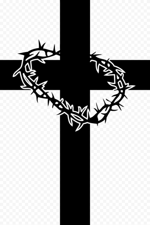 Black Cross Christ Crown Of Thorns Computer Icon