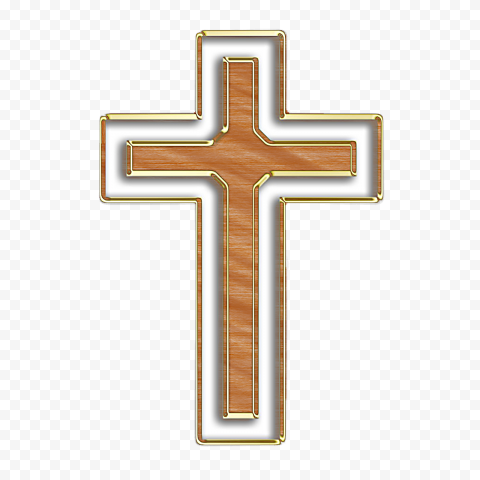 Modern Brown Cross Crucifix Christianity Catholic