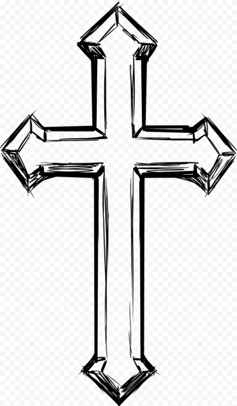 Hands Drawing Praying Pencil Christ Cross Icon