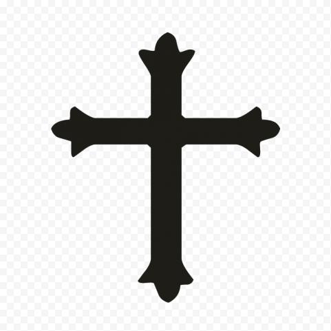 Christian Religious Cross Black Silhouette Icon