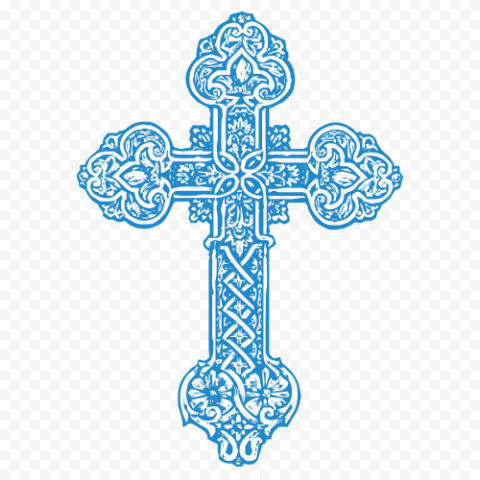 Blue Christian Cross Celtic Christianity Symbol