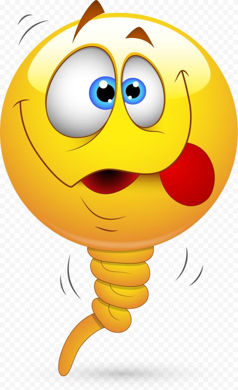 Yellow Dizzy Emoji Face Illustration Dizziness