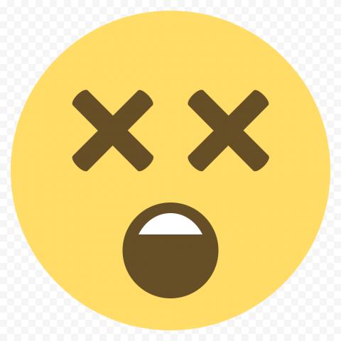 Yellow Oops Emoji Face Dizzy Emoticon