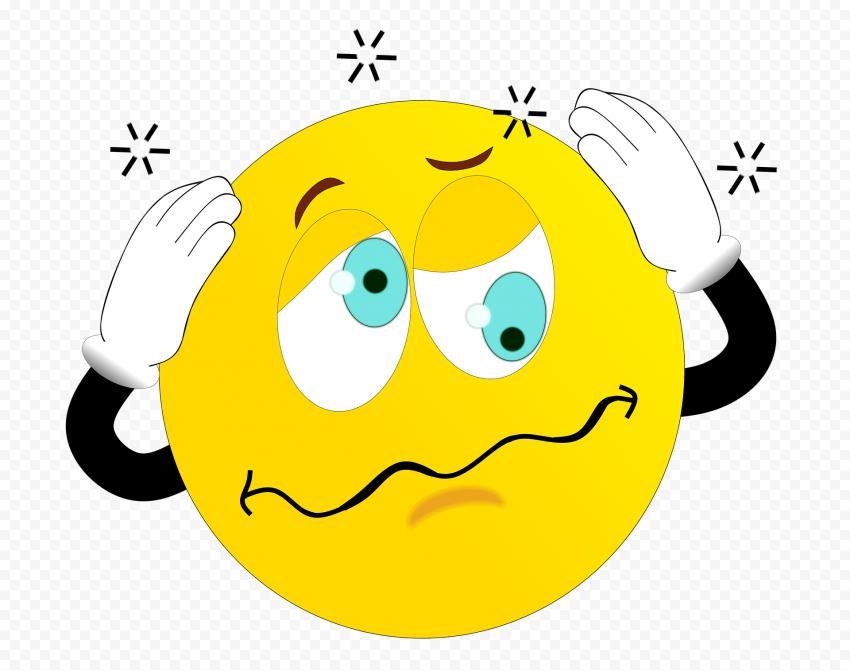 Yellow Emoji Dizzy Sick Disease Vertigo Cartoon