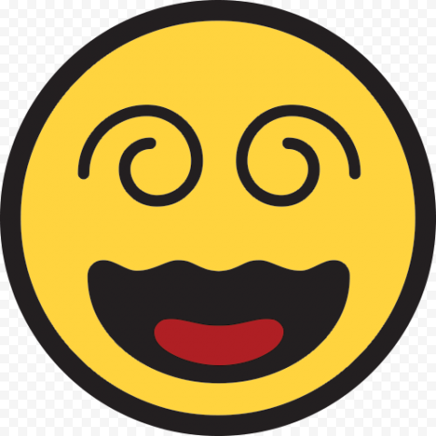 Smiley Yellow Emoji Emoticon Face Dizzy Clipart