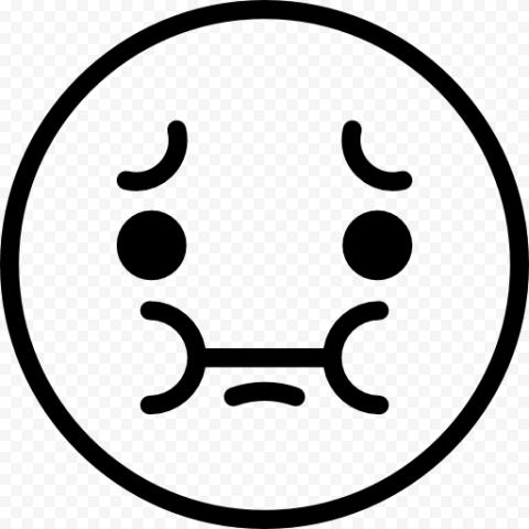 Outline Black Emoticon Emoji Sick Computer Icon