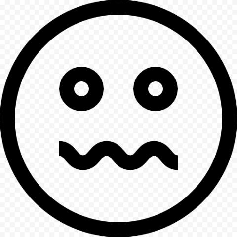 Black And White Emoji Emoticon Sick Face Icon