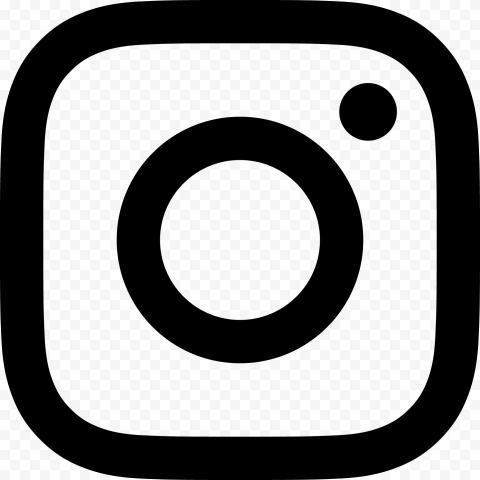 Black Instagram Social Media Outline Logo Icon