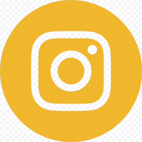 Yellow Circle Instagram Logo Sign Icon