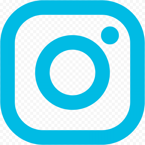 Turquoise Square Outline Instagram Logo Icon