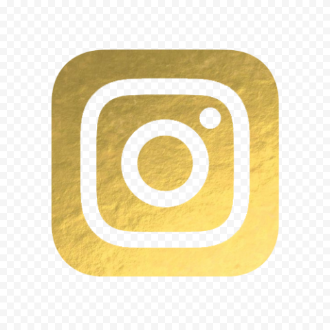 Gold Instagram Social Media Logo Icon