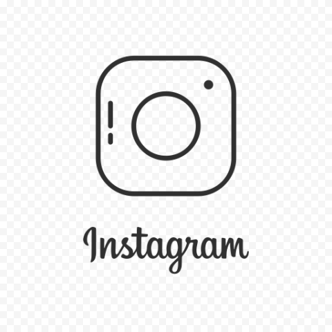 Creative Square Instagram Lines Logo Icon With Text