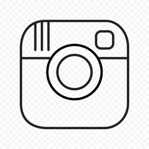 Instagram Lines Square Logo Icon Black & White