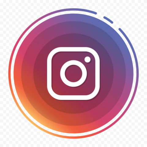 Circle Contains Square White Instagram Logo